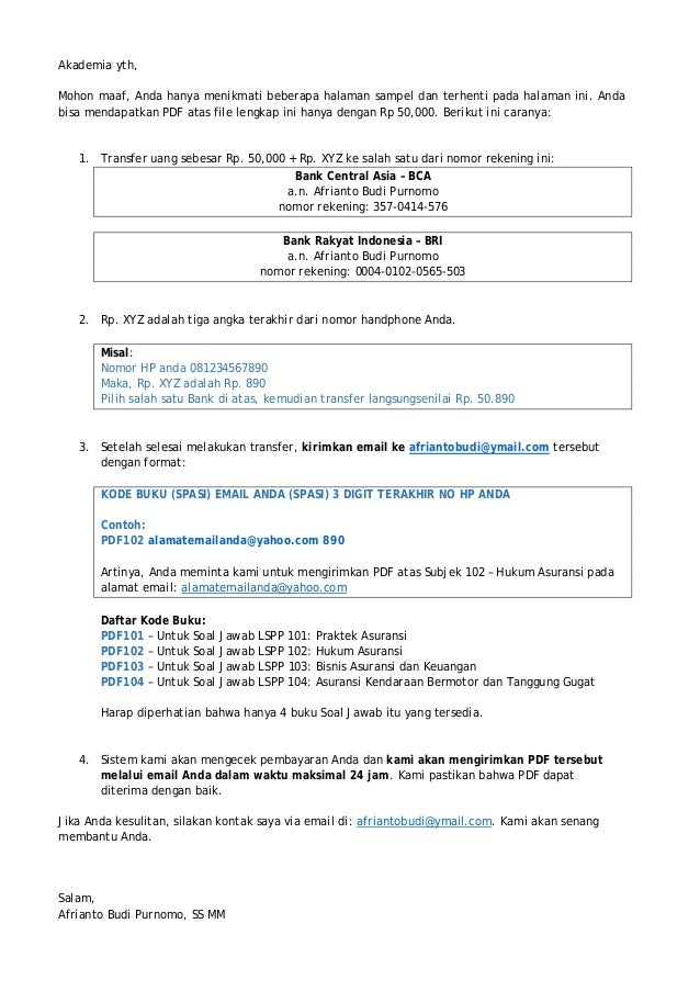 Contoh Surat Jawaban Hukum Perdata Contoh Juli