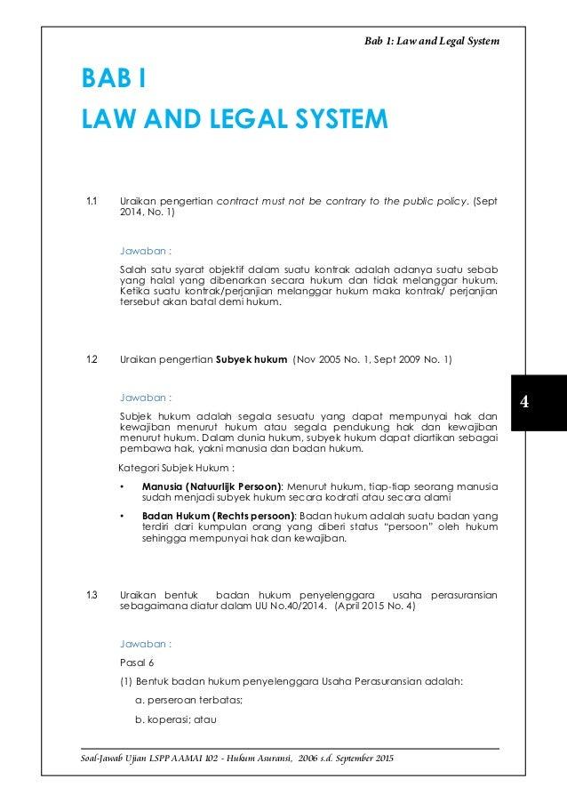 Lspp 102 Hukum Asuransi Maret 2016 Sample