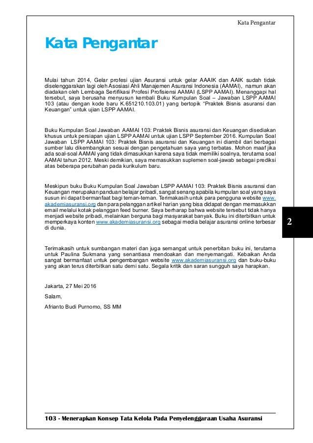 Soal Jawab Ujian Lspp Aamai 103 Bisnis Asuransi Dan Keuangan Edisi