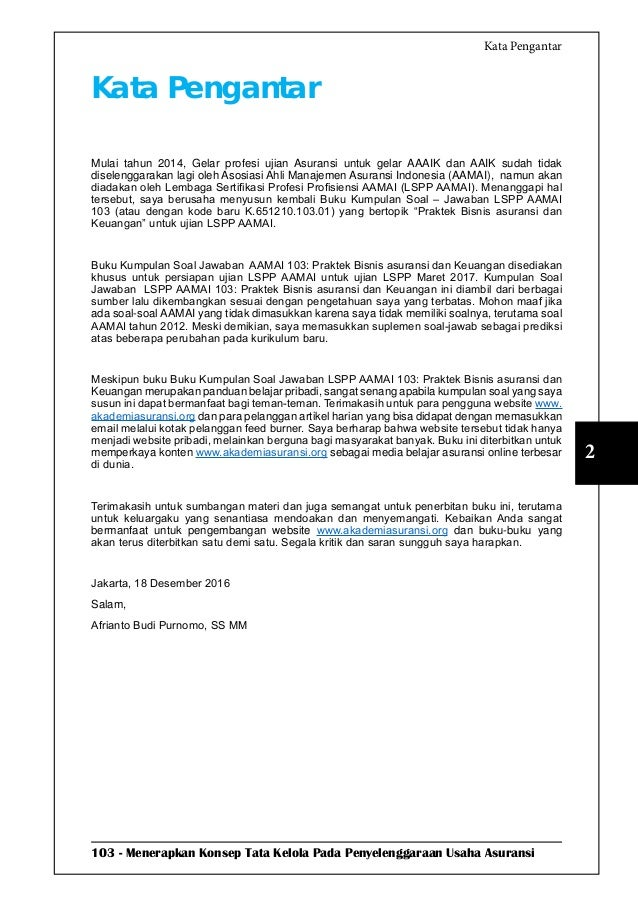 LSPP AAMAI 103   Praktik Bisnis dan Keuangan Asuransi - Maret 2017 Slide 3