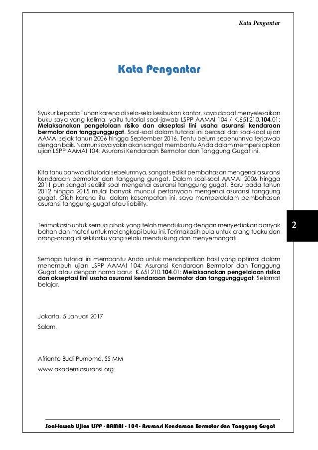 LSPP AAMAI 104  - Kendaraan Bermotor dan Tanggunggugat - Maret 2017 Slide 3