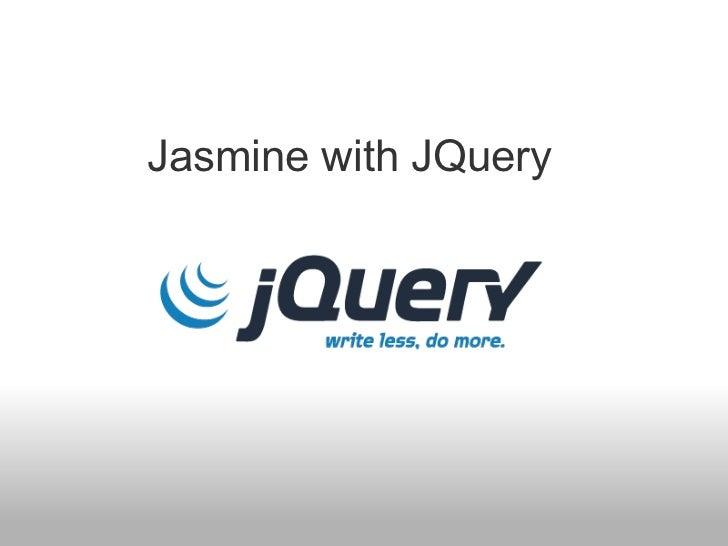 Jasmine with JQuery