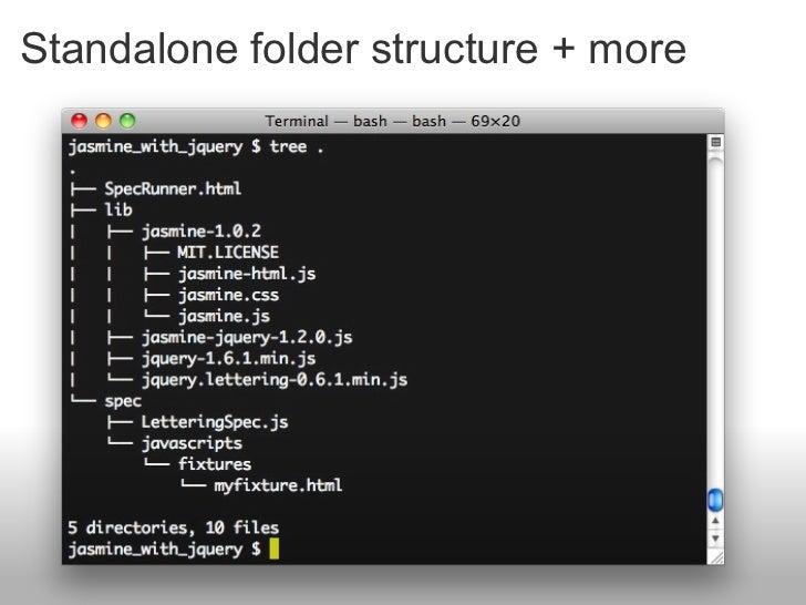 Standalone folder structure + more