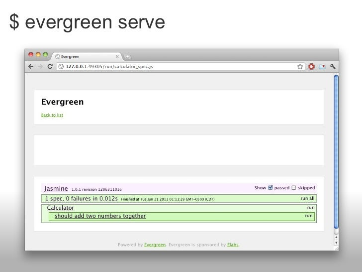 $ evergreen serve