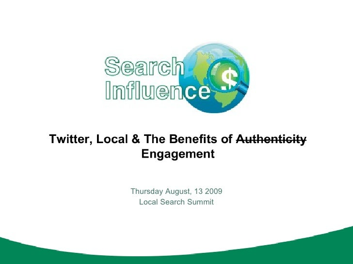 Thursday August, 13 2009 Local Search Summit