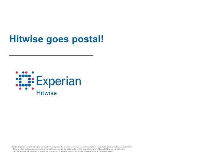 Hitwise goes postal!