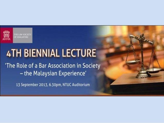 Christopher Leong President Malaysian Bar NO FEAR . NO FAVOUR