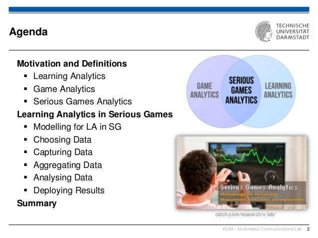 Serious Games Analytics - Lecture at TU Darmstadt Slide 2
