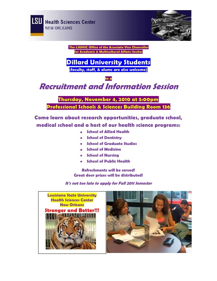 LSU Health Sciences Center Recruitment and Information