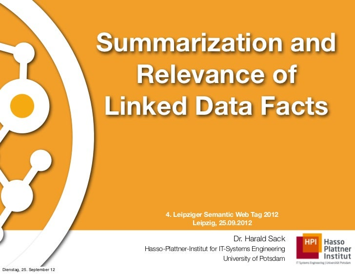 Summarization and                                Relevance of                             Linked Data Facts               ...