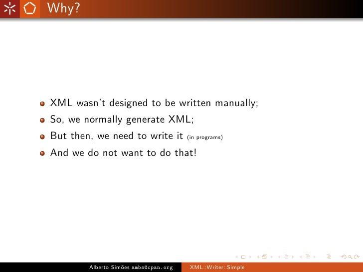 XML::Writer::Simple Slide 2