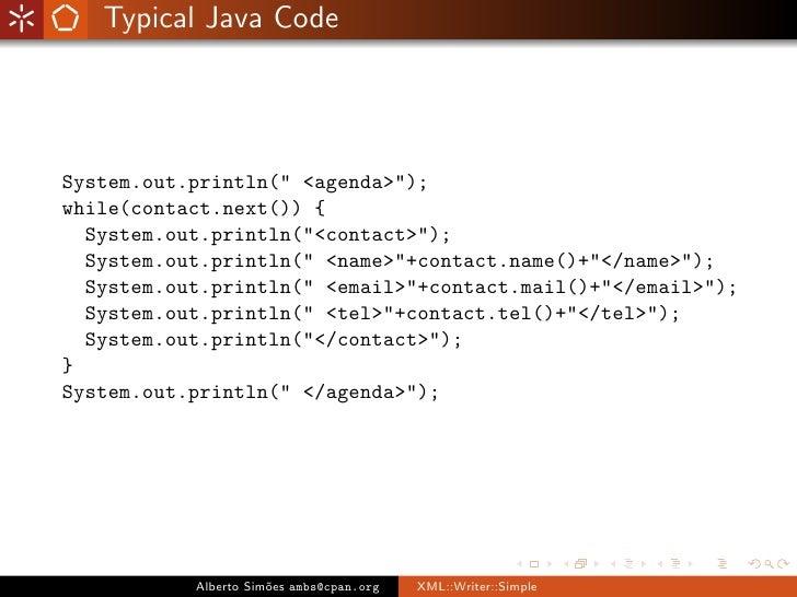 XML::Writer::Simple Slide 3
