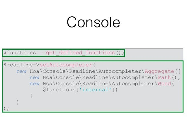 Console https://github.com/hoaproject/Console#readline