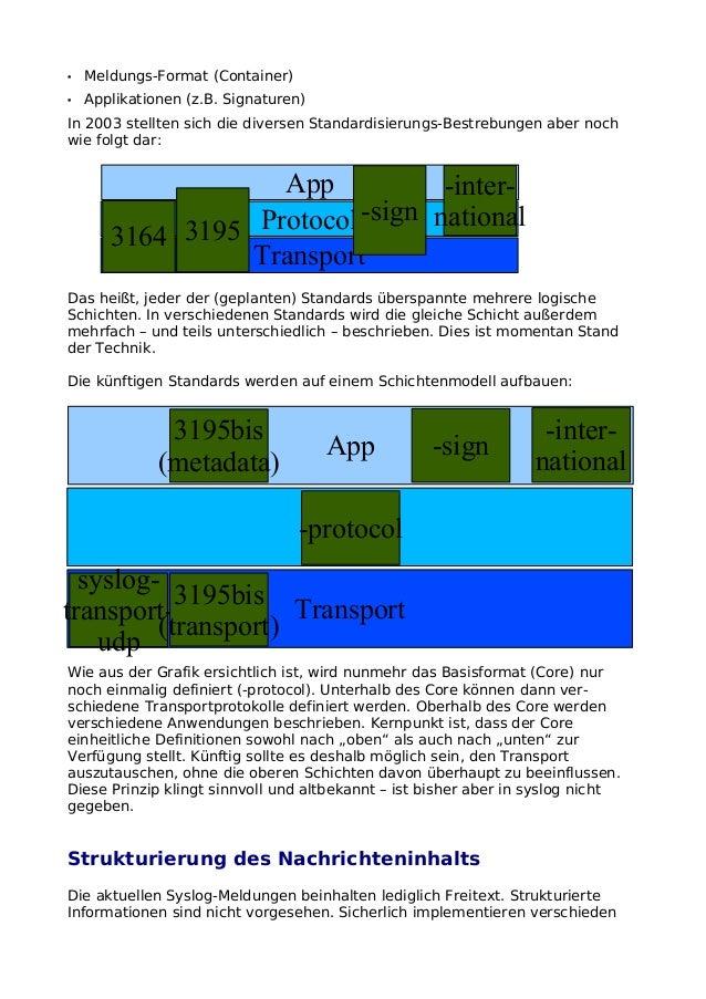 • Meldungs-Format (Container)• Applikationen (z.B. Signaturen)In 2003 stellten sich die diversen Standardisierungs-Bestreb...