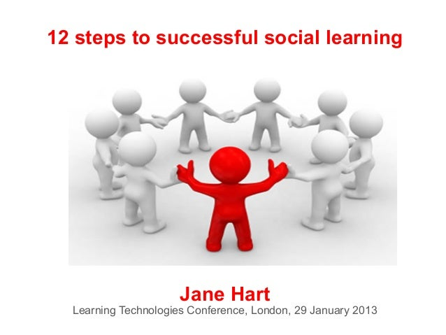 12 steps to successful social learning                      Jane Hart  Learning Technologies Conference, London, 29 Januar...