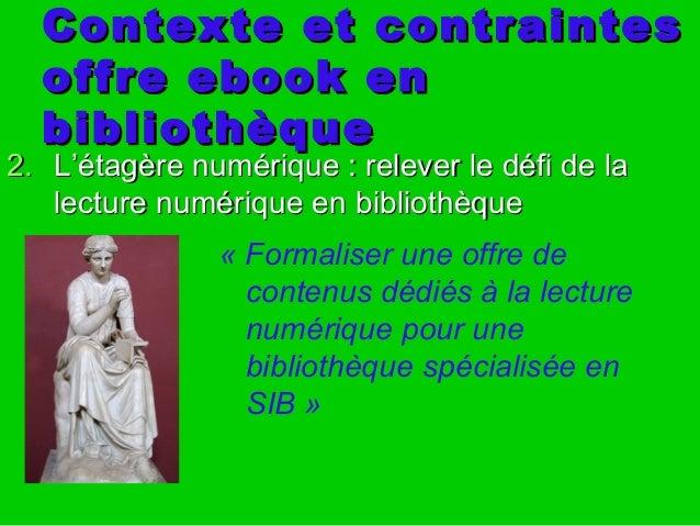 Contexte et contraintesContexte et contraintes offre ebook enoffre ebook en bibliothèquebibliothèque « Formaliser une offr...
