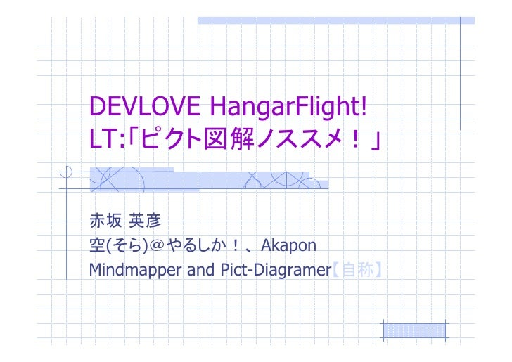 DEVLOVE HangarFlight!LT:  (  )               AkaponMindmapper and Pict-Diagramer
