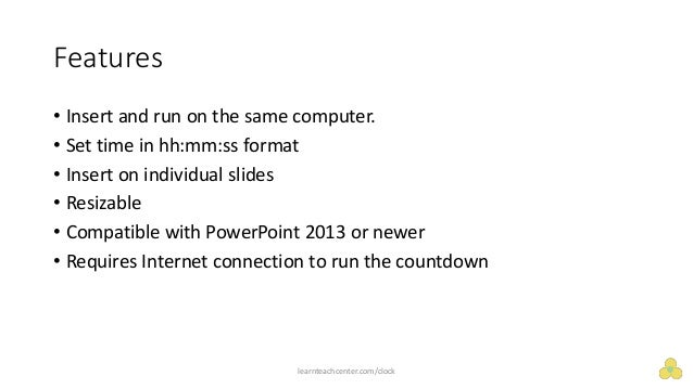 embed countdown timer for powerpoint on windows