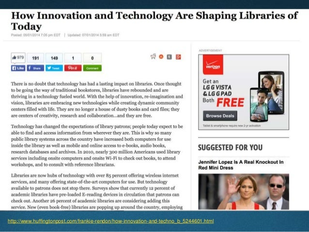 How Are Libraries Different?  Libraries advocate technology and innovation.  But so do many other institutions.  How ar...