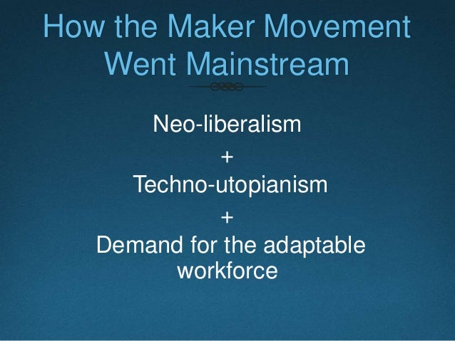 Makers & Takers  Makers have access to new technology.  Makers can afford investing their free time and money in learnin...