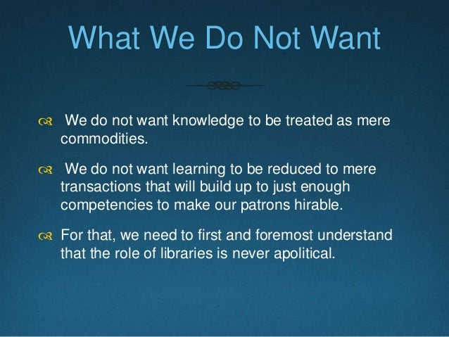 Libraries as a Socially Meaningful Public Institution  Libraries need to find ways to establish their stance as a sociall...