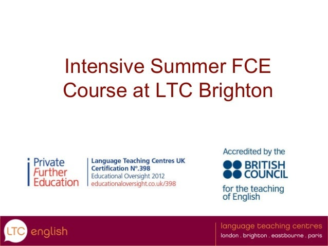 Intensive Summer FCE Course at LTC Brighton  A class hard at work
