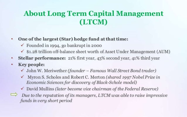 Long Term Capital Management Ltcm Financial Collapse