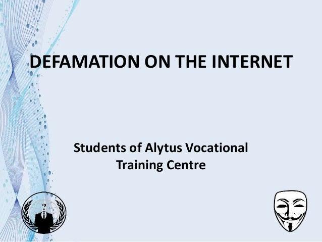 Cyber harassment internet defamation & internet trolls.