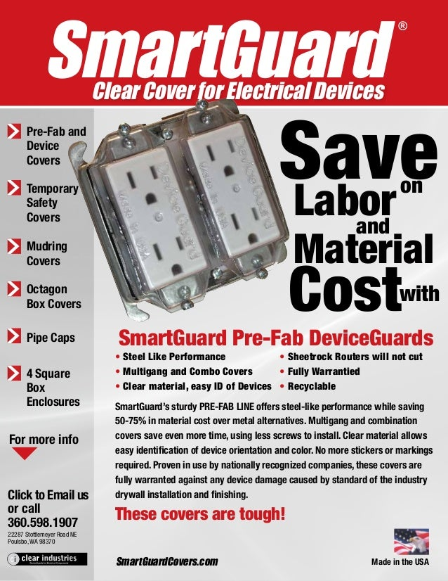 SmartGuard Clear Cover for Electrical Devices