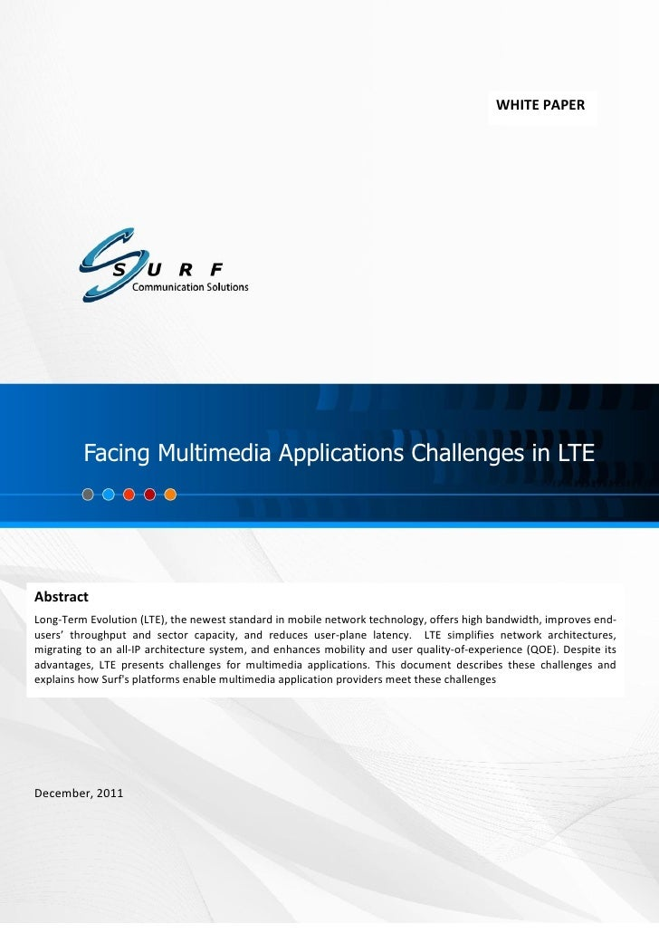 Facing Multimedia Applications Challenges in LTE                                                                          ...