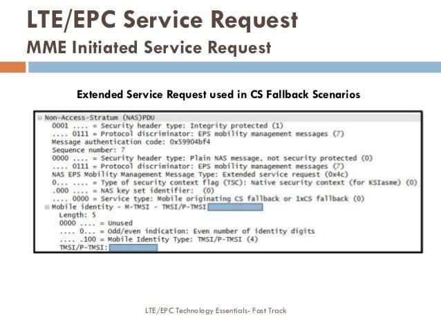LTE/EPC Service Request MME Initiated Service Request Extended Service Request used in CS Fallback Scenarios LTE/EPC Techn...