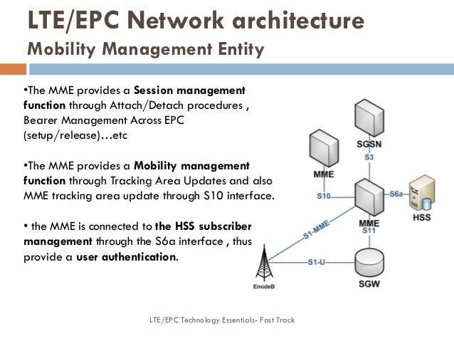 •The MME provides a Session management function through Attach/Detach procedures , Bearer Management Across EPC (setup/rel...