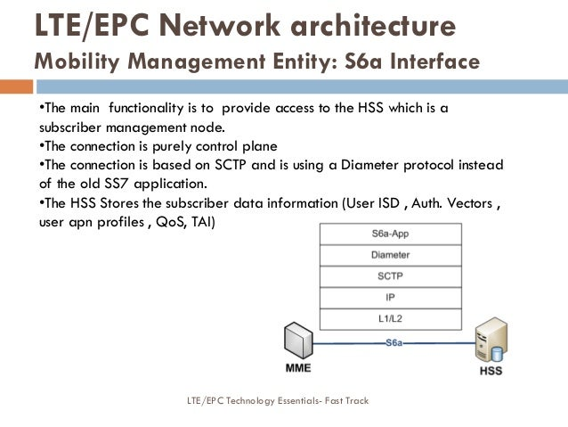 •The main functionality is to provide access to the HSS which is a subscriber management node. •The connection is purely c...