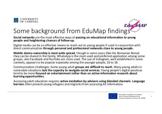 TheprojectsisfundedbytheEuropean Union'sHorizon2020Researchand InnovationProgramme,ContractNo.693388 Some...