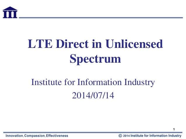 LTE direct in unlicensed spectrum