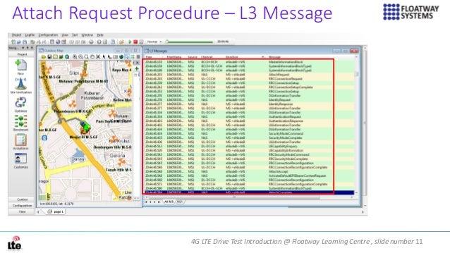 4G LTE Drive Test Introduction @ Floatway Learning Centre , slide number 11 Attach Request Procedure – L3 Message