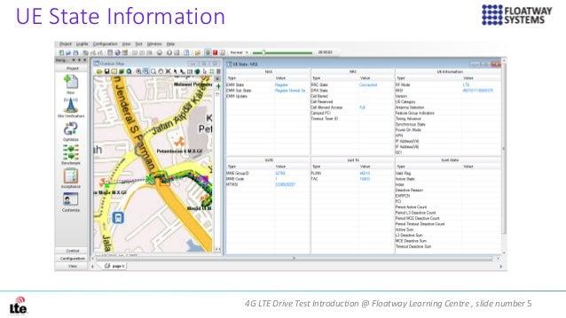 4G LTE Drive Test Introduction @ Floatway Learning Centre , slide number 5 UE State Information