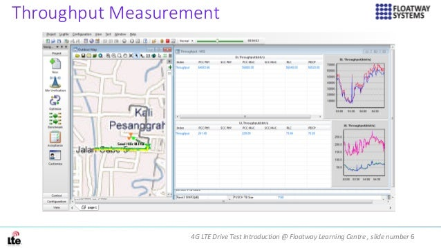 4G LTE Drive Test Introduction @ Floatway Learning Centre , slide number 6 Throughput Measurement