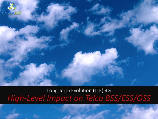 Long Term Evolution (LTE) 4G High-Level Impact on Telco BSS/ESS/OSS