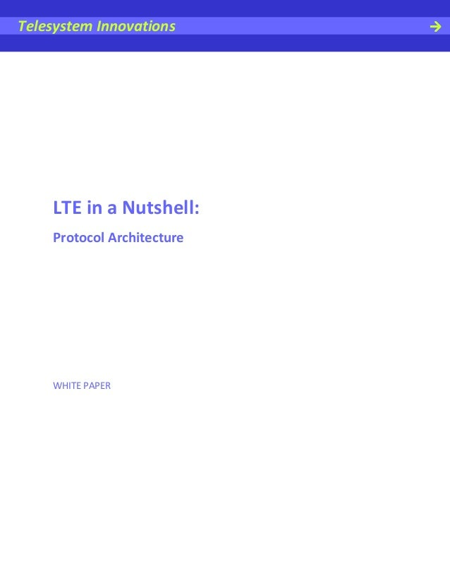 Telesystem Innovations    LTE in a Nutshell:    Protocol Architecture    WHITE PAPER