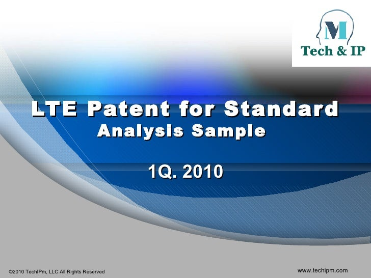 LTE Patent for Standard Analysis Sample  1Q. 2010