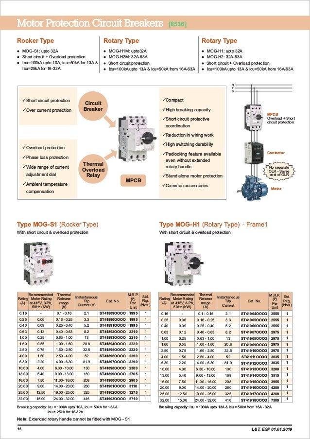 L T Esp Price List 01 Jan 2019