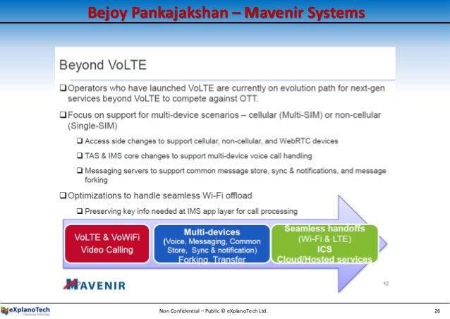 Bejoy Pankajakshan – Mavenir Systems Non Confidential – Public © eXplanoTech Ltd. 26