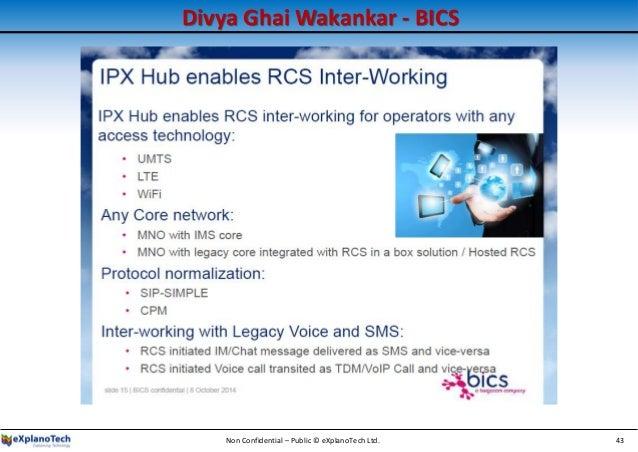 Divya Ghai Wakankar - BICS Non Confidential – Public © eXplanoTech Ltd. 43
