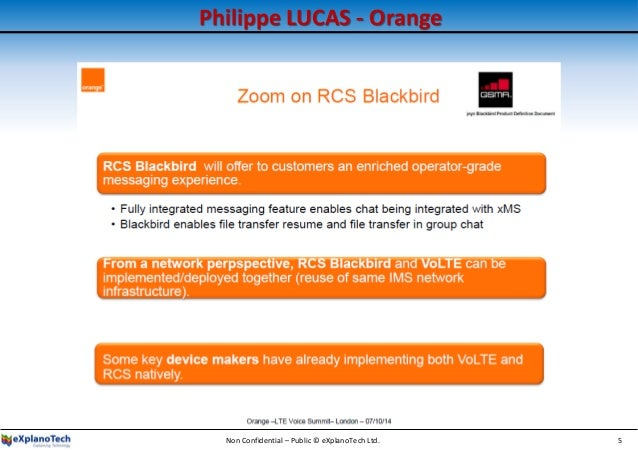 Philippe LUCAS - Orange Non Confidential – Public © eXplanoTech Ltd. 5