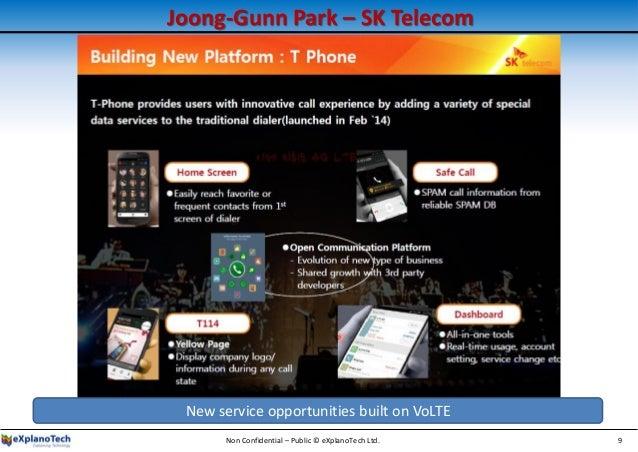 Joong-Gunn Park – SK Telecom Non Confidential – Public © eXplanoTech Ltd. 9 New service opportunities built on VoLTE