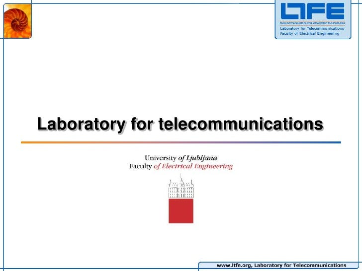 Laboratoryfortelecommunications<br />