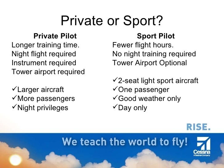 Steps to becoming a pilot