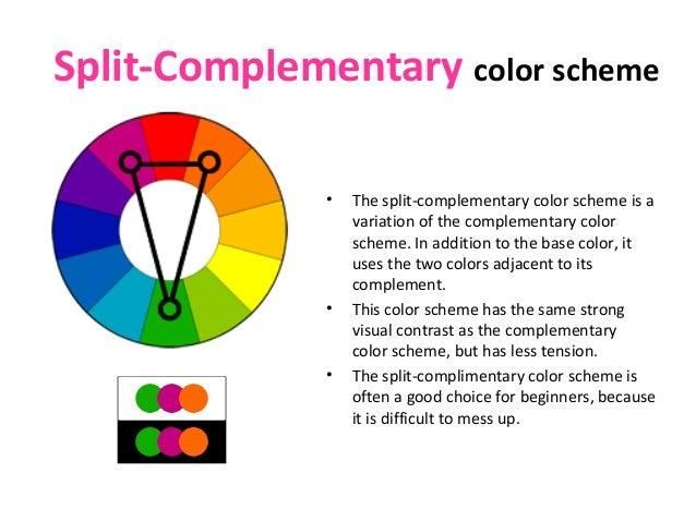 Split-Complementary color scheme ...