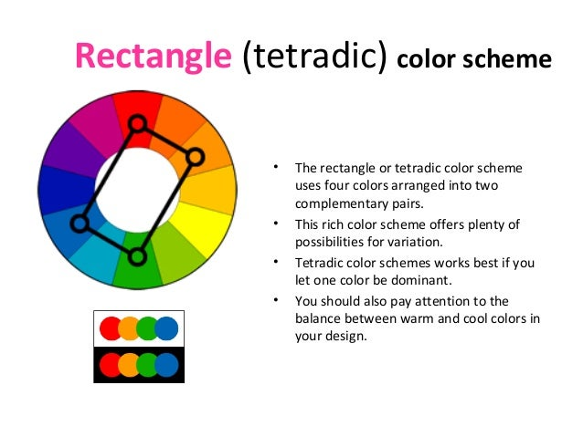 11 Rectangle Tetradic Color